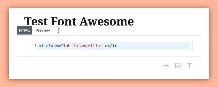 bloque html fa
