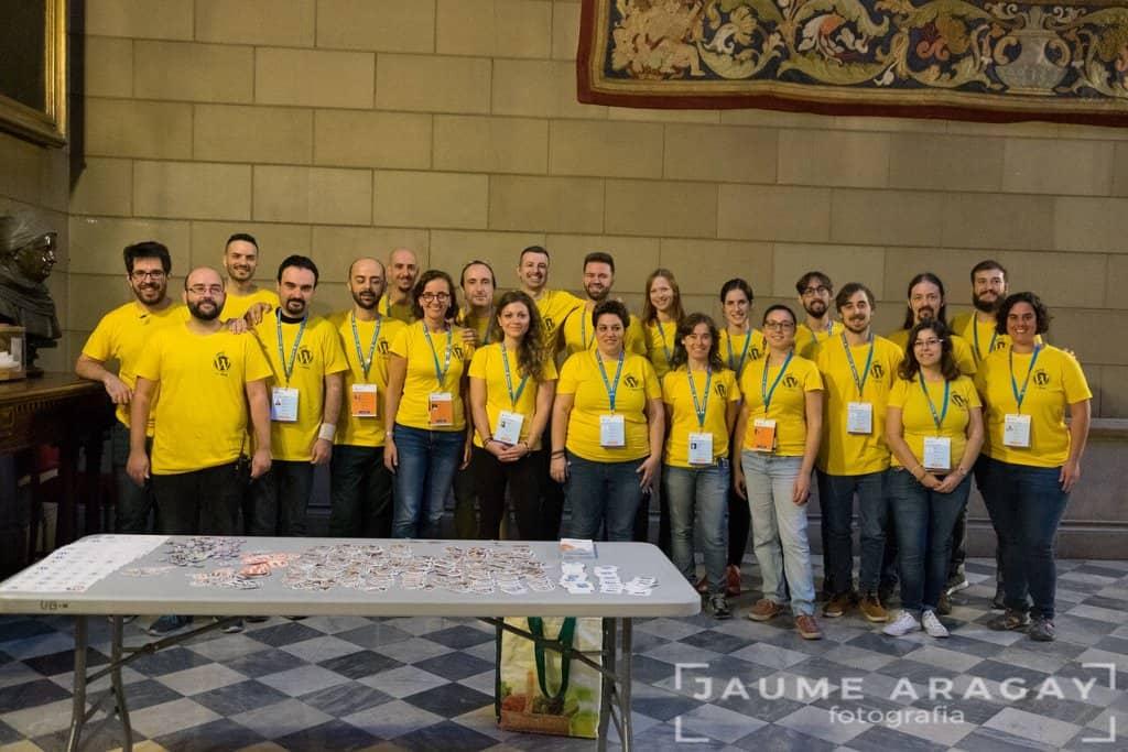 organizadores y voluntarios